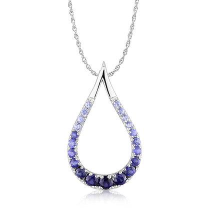 14k Teardrop Sapphire Necklace