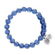 Tanzanite Crystal Wrap Bracelet