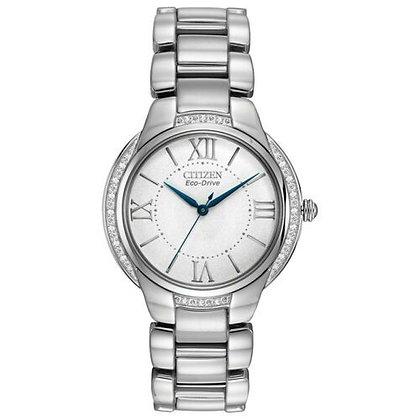 Ciena Dress Watch with Diamond Strap Bracelet Watch