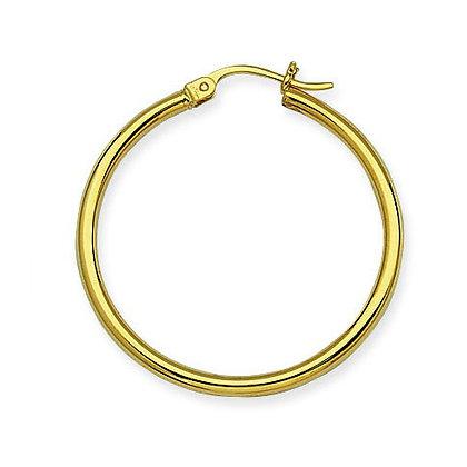 "14K Yellow Gold 1-1/4"" Hoop Earrings"