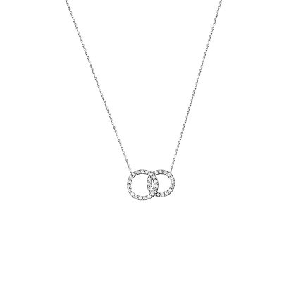 Sterling Silver Double Circle Necklace