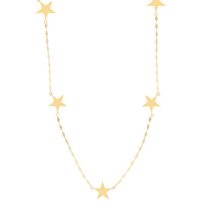 "14K Seven Star 18"" Necklace"