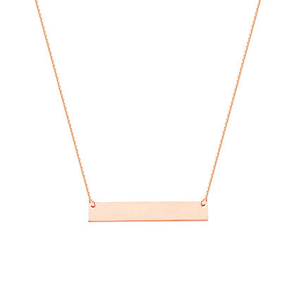 14K Rose Gold Mini Bar Necklace