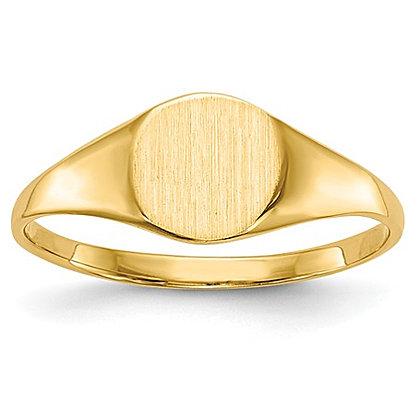 14K Yellow Gold Signet Fashion Ring