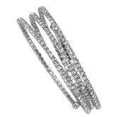Three Row Crystal Bracelet