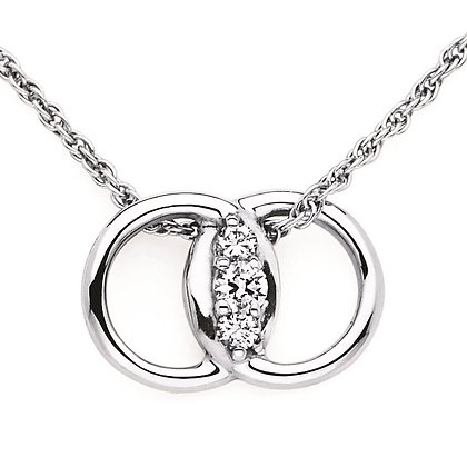 Diamond Marriage Symbol® Pendant In 14K Gold
