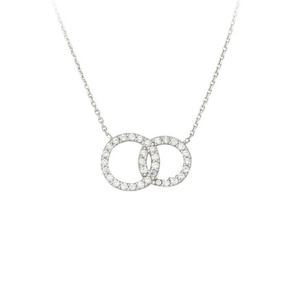 Sterling Silver Interlock Circles Necklace