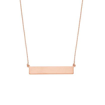 14K Rose Gold Bar Necklace