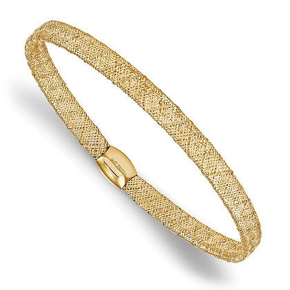 14K Yellow Gold Stretch Bangle Bracelet