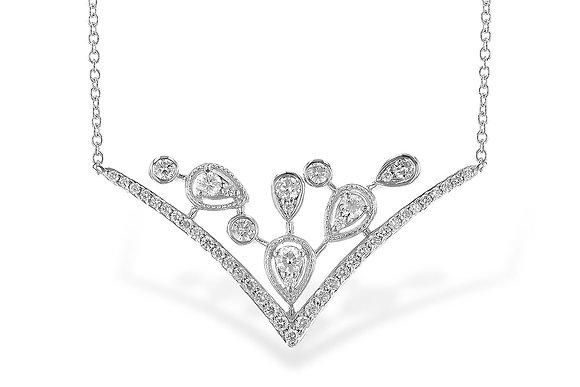 Chevron Diamond Pendant Necklace