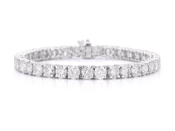 14K White Gold 4.04 ct. Diamond Bracelet