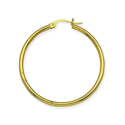 "14K Yellow Gold 1-1/2"" Hoop Earrings"