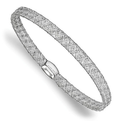 14K White Gold Stretch Bangle Bracelet