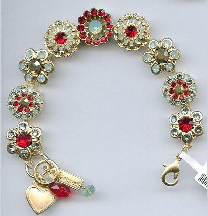 Garnet Toned Crystals Bracelet
