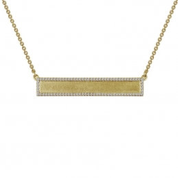 Gold Plated Sterling Silver Bar Necklace