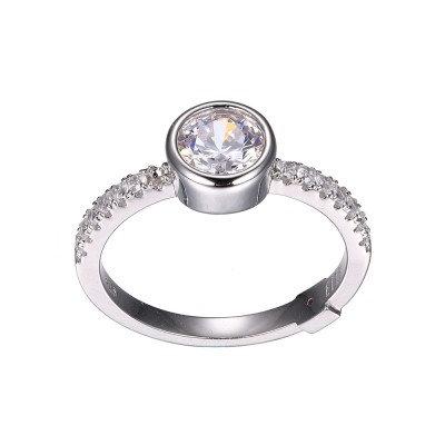 Bezel Set Simulated Diamond Ring
