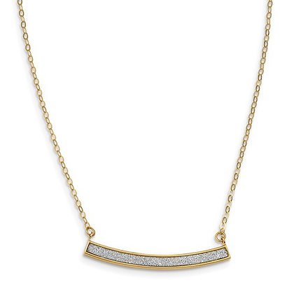 14K Two-Tone Glimmer Infused Collar Necklace