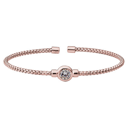 Sterling Silver Rose Gold Rodium Finish Bracelet