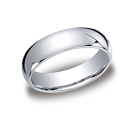 Traditional Comfort Fit White Gold Wedding Band
