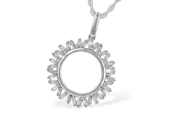 14K Diamond Circle Necklace