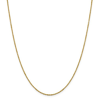 14K Yellow Gold Diamond Cut Rolo Chain