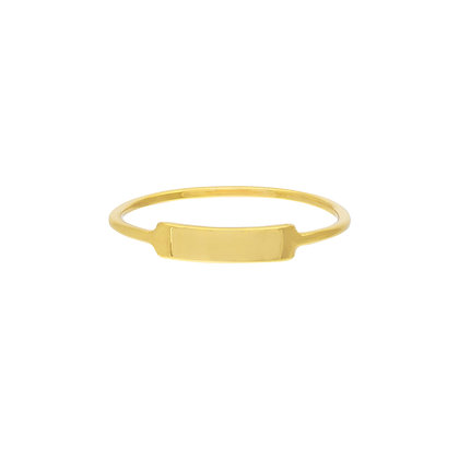 14K Yellow Gold Small ID Ring