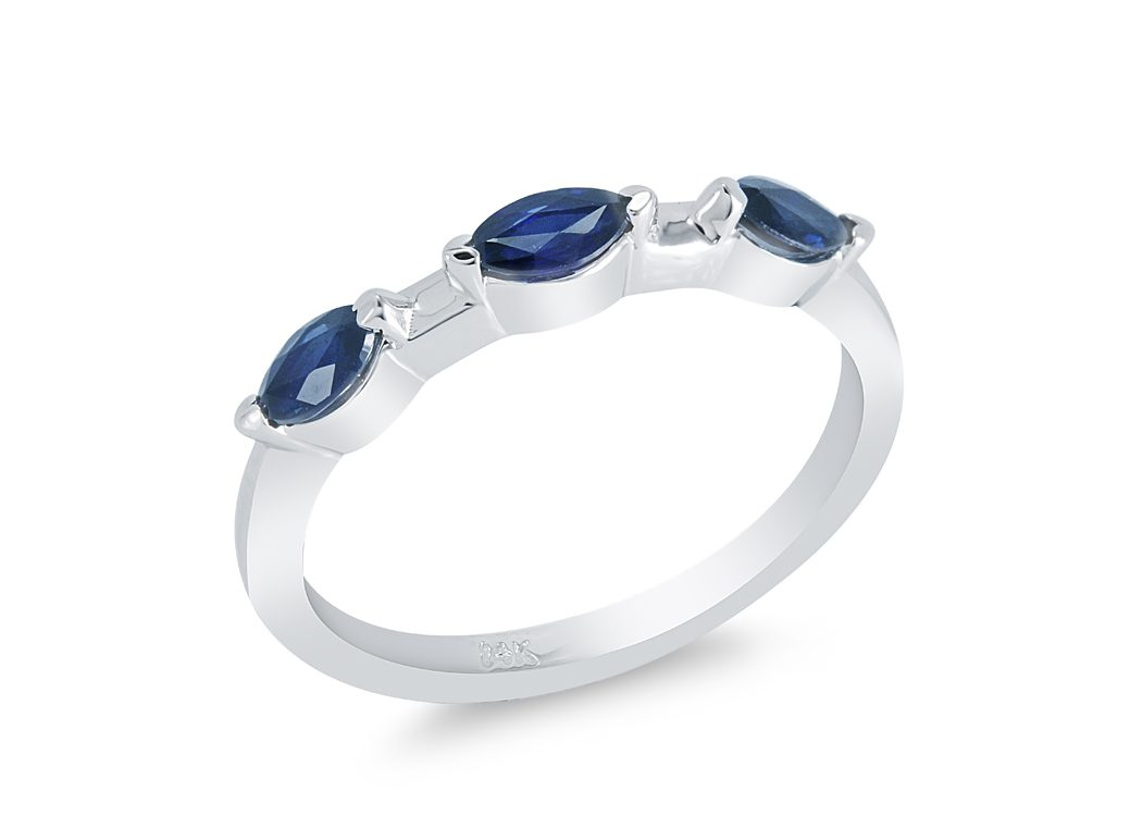 A. Seaton Blue Saph Mq Ring1