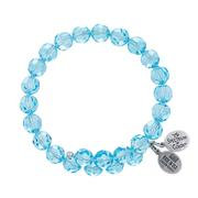 Aqua Crystal Wrap Bracelet
