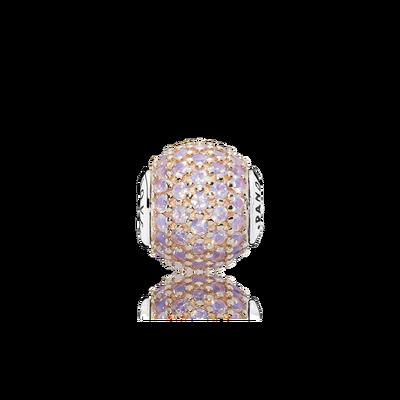 LOVE, 14K Rose Gold & Pink Crystal
