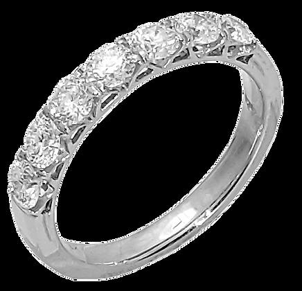 14K White Gold Prong Set Diamond Wedding Ring