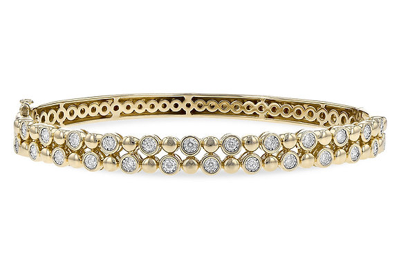 14K Diamond Bangle Bracelet
