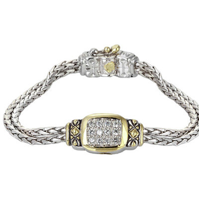 Double Pave Center Bracelet