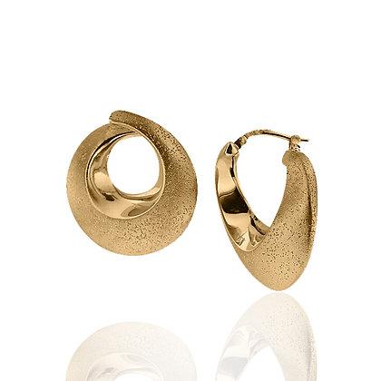18K Finish Medium Hoop Gilda Earrings