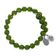 Olivine Crystal Wrap Bracelet