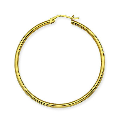 "14K Yellow Gold 1-5/8"" Hoop Earrings"