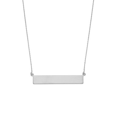 Sterling Silver Mini Bar Necklace