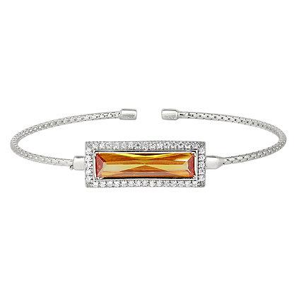Sterling Silver November Birthstone Cuff Bracelet