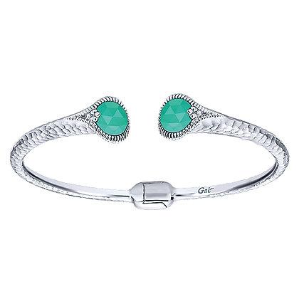 Crystal Green Onyx Bracelet