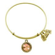 November Birthstone Charm Bangle