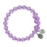 Violet Crystal Wrap Bracelet