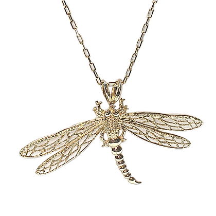 Natural looking Dragonfly Pendant for Nature Lovers