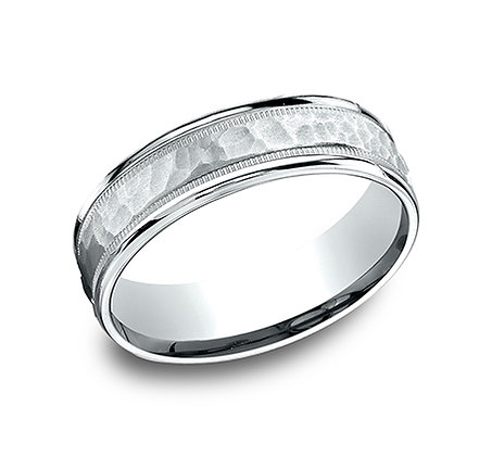 Men's Hammered-Finished Wedding Band