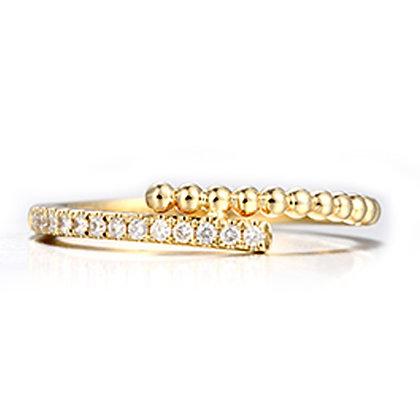 14K Yellow Gold Diamond Fashion Ring