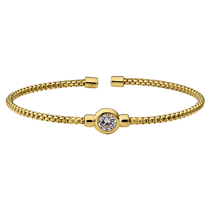 Sterling Silver Gold Rodium Finish Bracelet