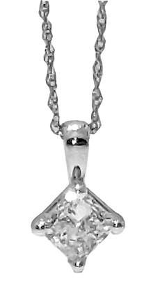 14K White Gold .60 ct. Diamond Pendant