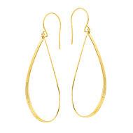 14K Yellow Gold Euro Wire Drop Earring