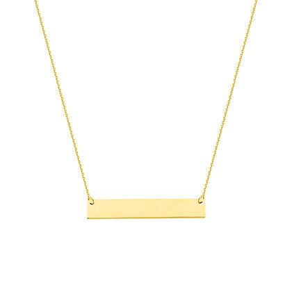 14K Yellow Gold Mini Bar Necklace