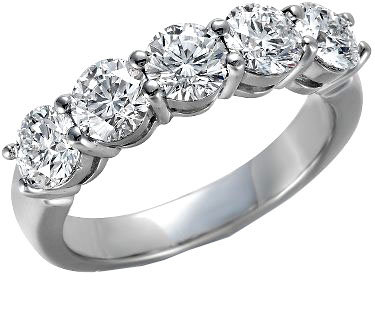 White Gold 14K Prong Set Diamond Wedding Ring