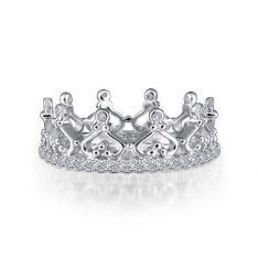 Sterling Silver Eternity Crown Ring