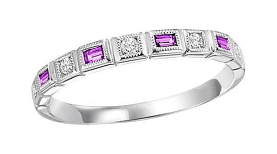 10K Princess Cut Ruby and Diamond Band